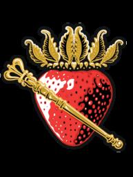 Golden Strawberry Strain Logo Illustration